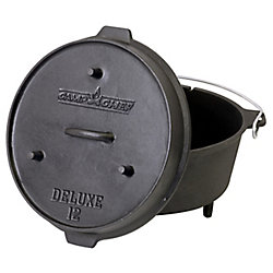 Camp Chef 14 inch Cast Iron Deluxe Dutch Oven