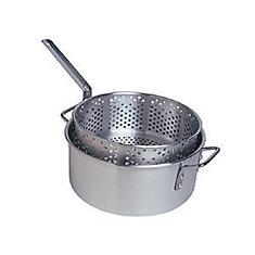 Ensemble de marmite friteuse en aluminium de 10 pte de