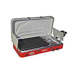 Camp Chef Mountain Series Rainer Two Burner Stove with Griddle