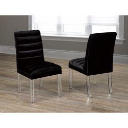 Brassex Inc. La chaise de salle à manger Benecio,Ensemble de 2, Noir