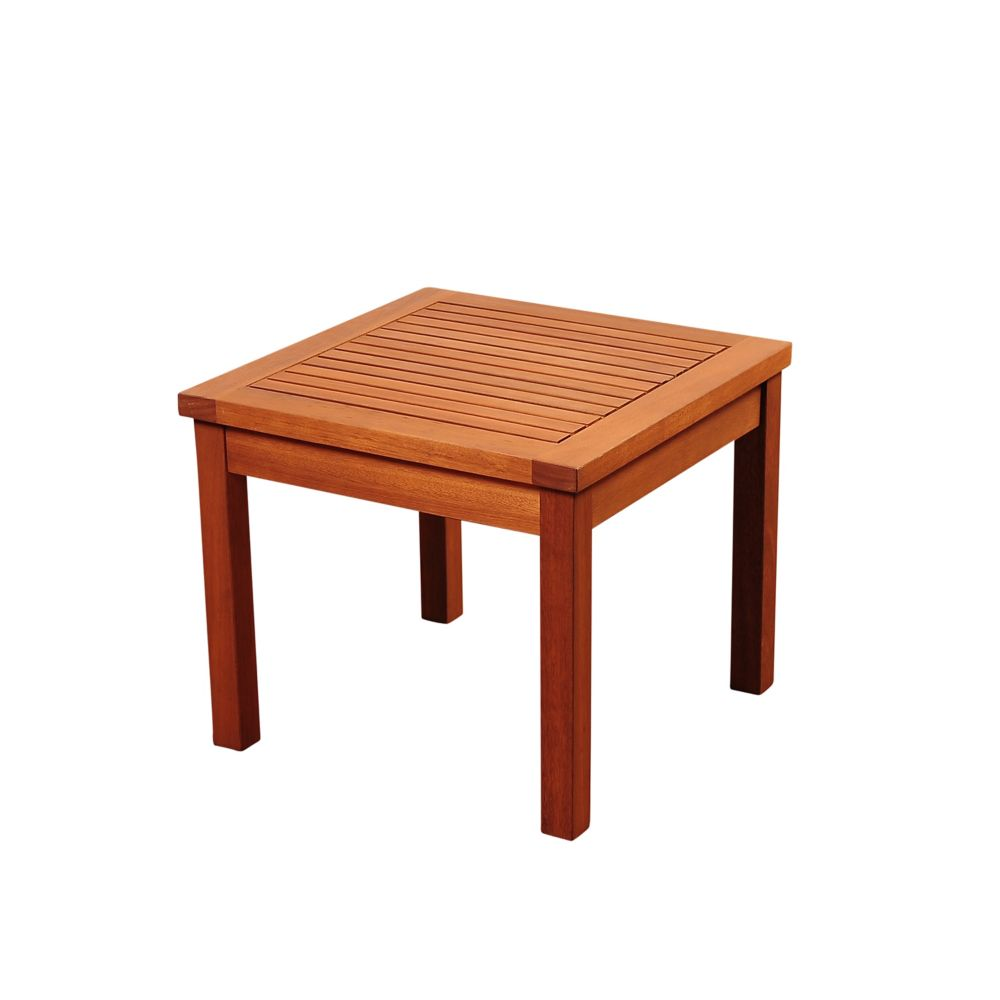 Amazonia Murano Eucalyptus Square Patio Side Table
