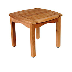 Amazonia Ashford Teak Square Patio Side Table