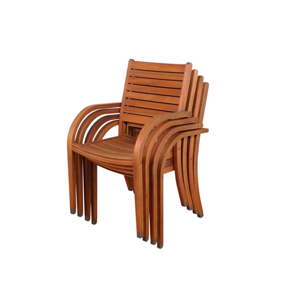 Amazonia Arizona Stacking Patio Arm Chair (4-Set)