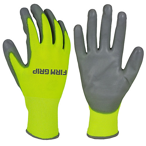 High Visibility PU Dipped Gloves with Touchscreen Compatibility (10 Pairs)