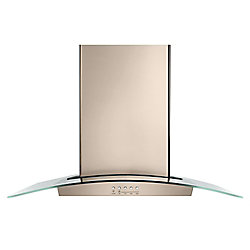 30-inch Modern Glass Wall Mount Range Hood in Sunset Bronze