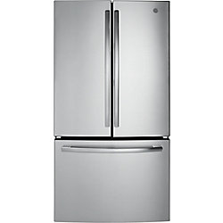 GE 36-inch W 27 cu. ft. French-Door Refrigerator in Stainless Steel