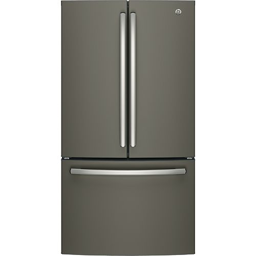 GE 36-inch W 27 cu. ft. Bottom Mount French Door Refrigerator in Slate - ENERGY STAR®