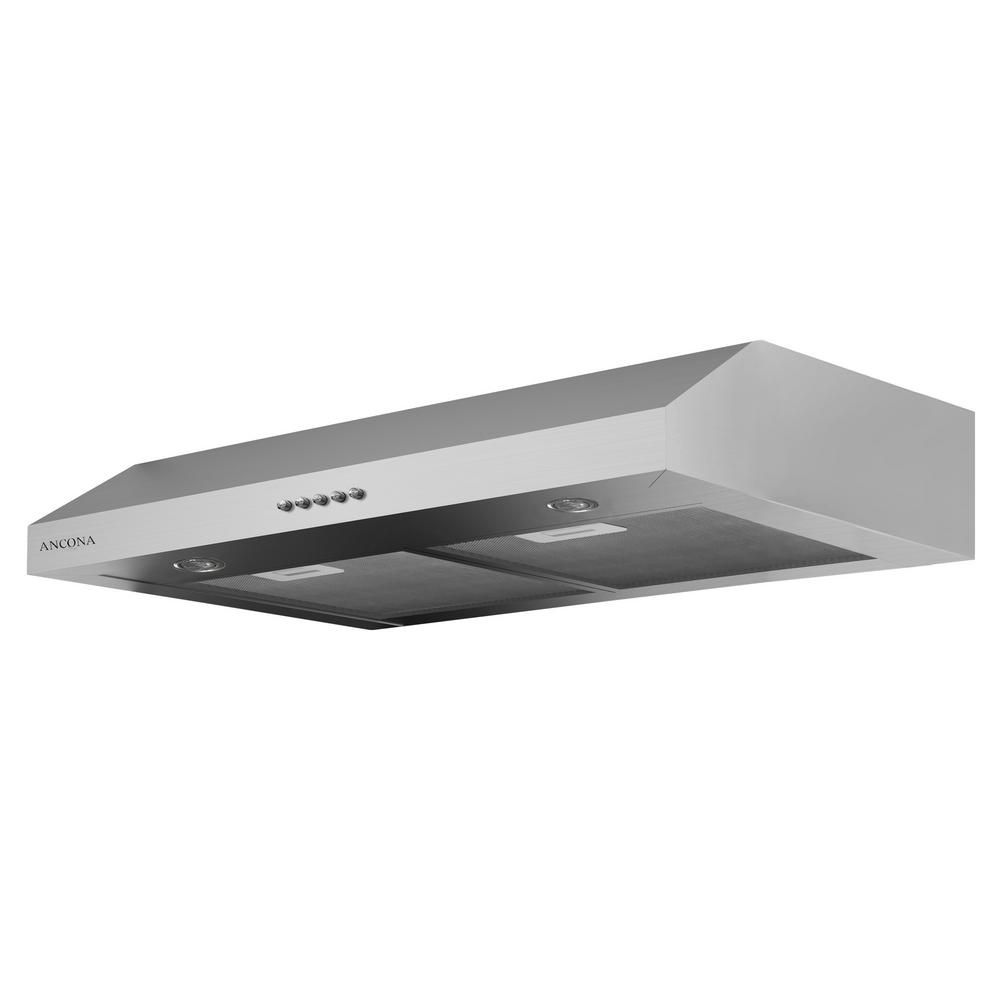 Ancona Slim Plus 30 inch Under-Cabinet Range Hood in Stainless Steel