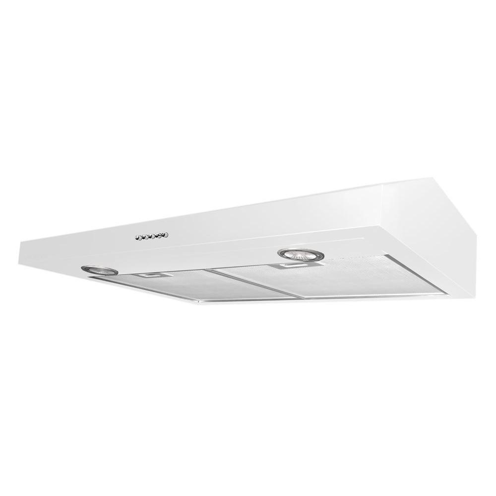 Ancona Slim Plus 30 inch Under-Cabinet Range Hood in White