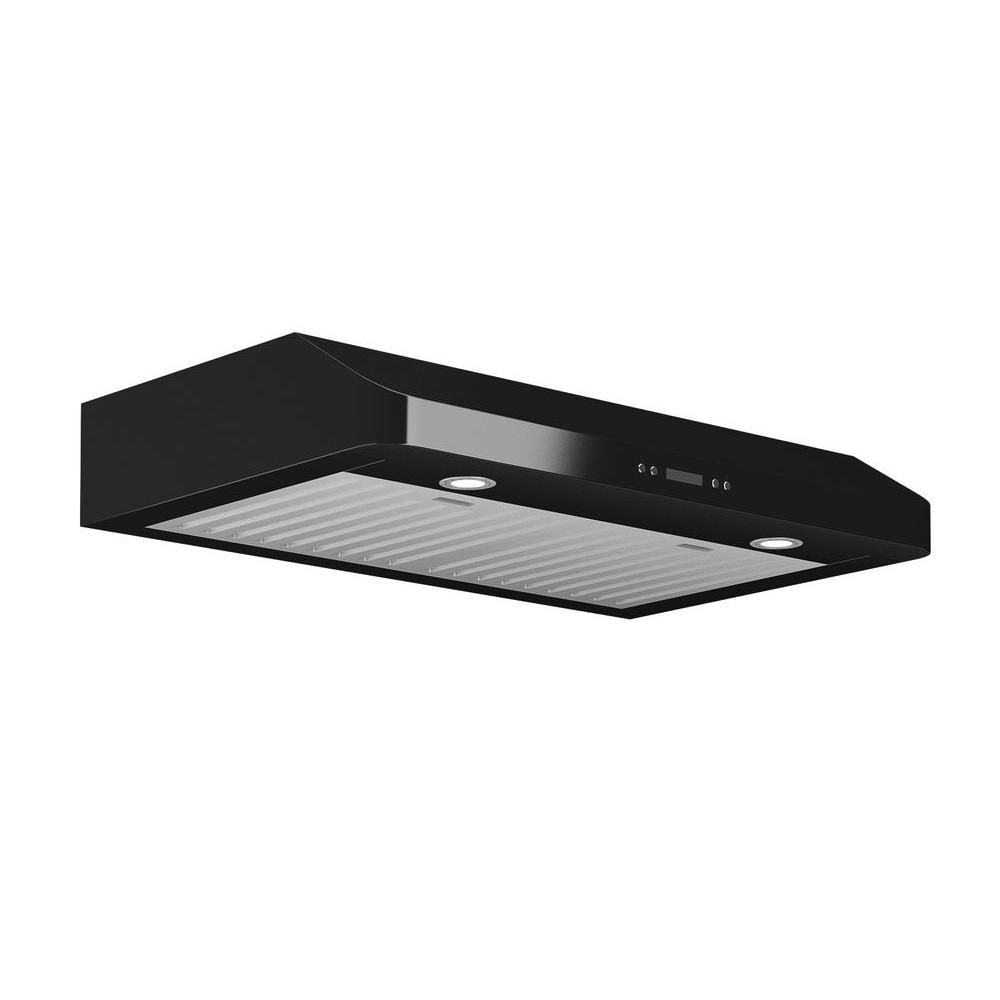 Ancona Slim Chef 30 inch Under-Cabinet Range Hood in Black