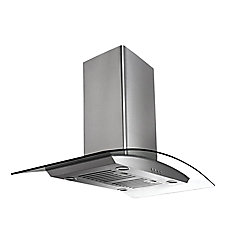 Ancona IGCP430 30 inch Island-Mounted Convertible Range Hood in Stainless Steel