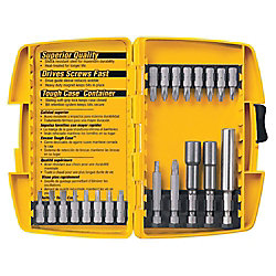 DEWALT Screwdriver Bit Set with Tough Case (21-Piece)
