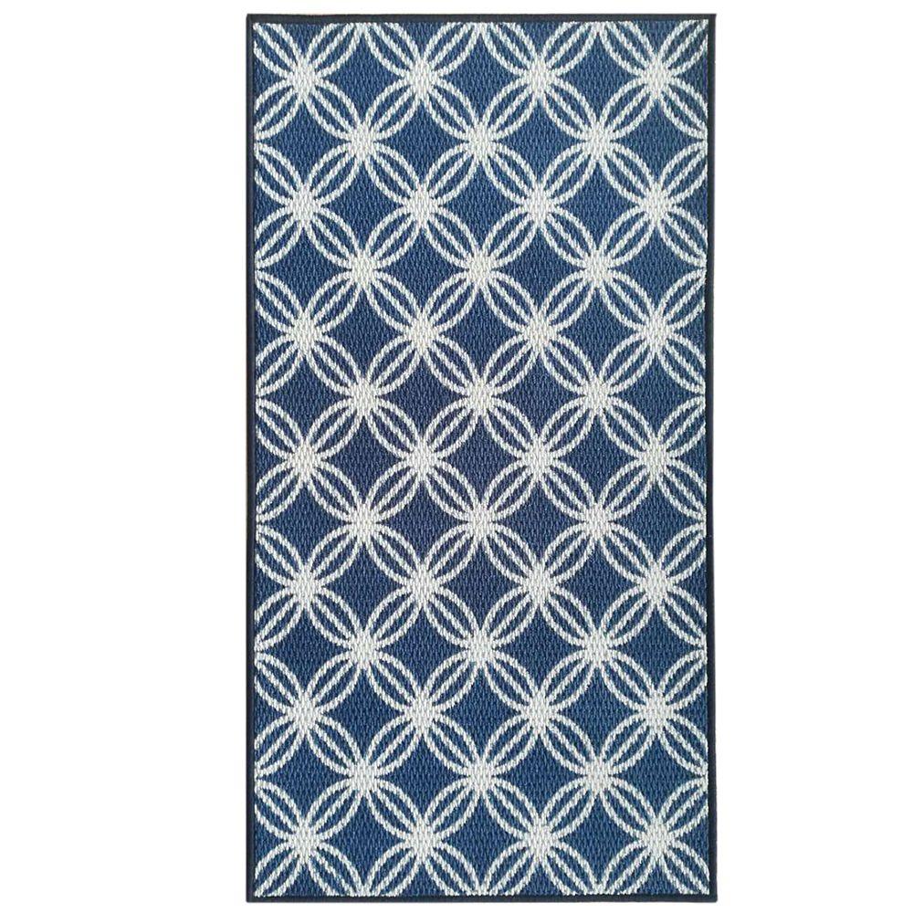 Lanart Rug Alicia 26-inch x  49-inch Navy Rectangular Doormat