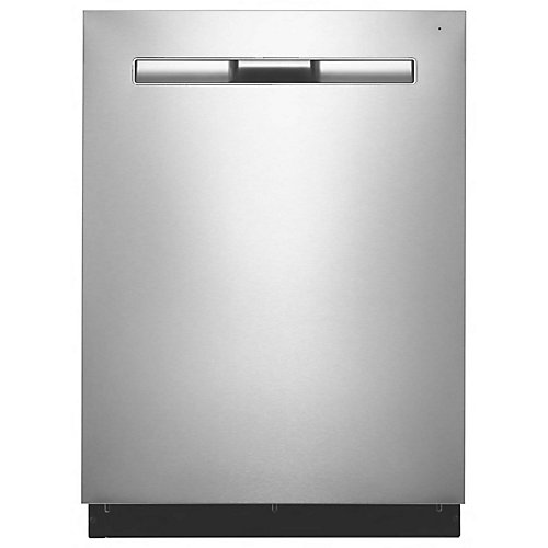 Lave-vaisselle intégré Top Control en acier inoxydable résistant aux empreintes digitales, 47 dBA