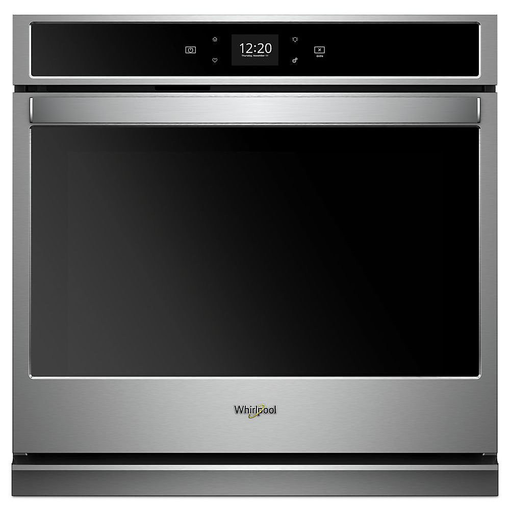 30-inch 5.0 cu. ft. Smart Single Electric Wall Oven Self-Cleaning with Touchscreen in Stainless Steel