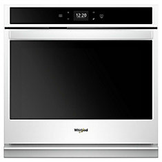 30-inch 5.0 cu. ft. Smart Single Electric Wall Oven Self-Cleaning with Touchscreen in White