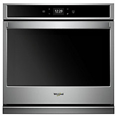 4.3 cu. ft. Smart Single Electric Wall Oven Self-Cleaning in Stainless Steel