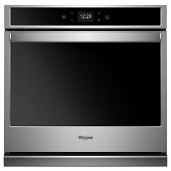 Whirlpool 27-inch 4.3 cu. ft. Smart Single Electric Wall Oven Self-Cleaning in Stainless Steel