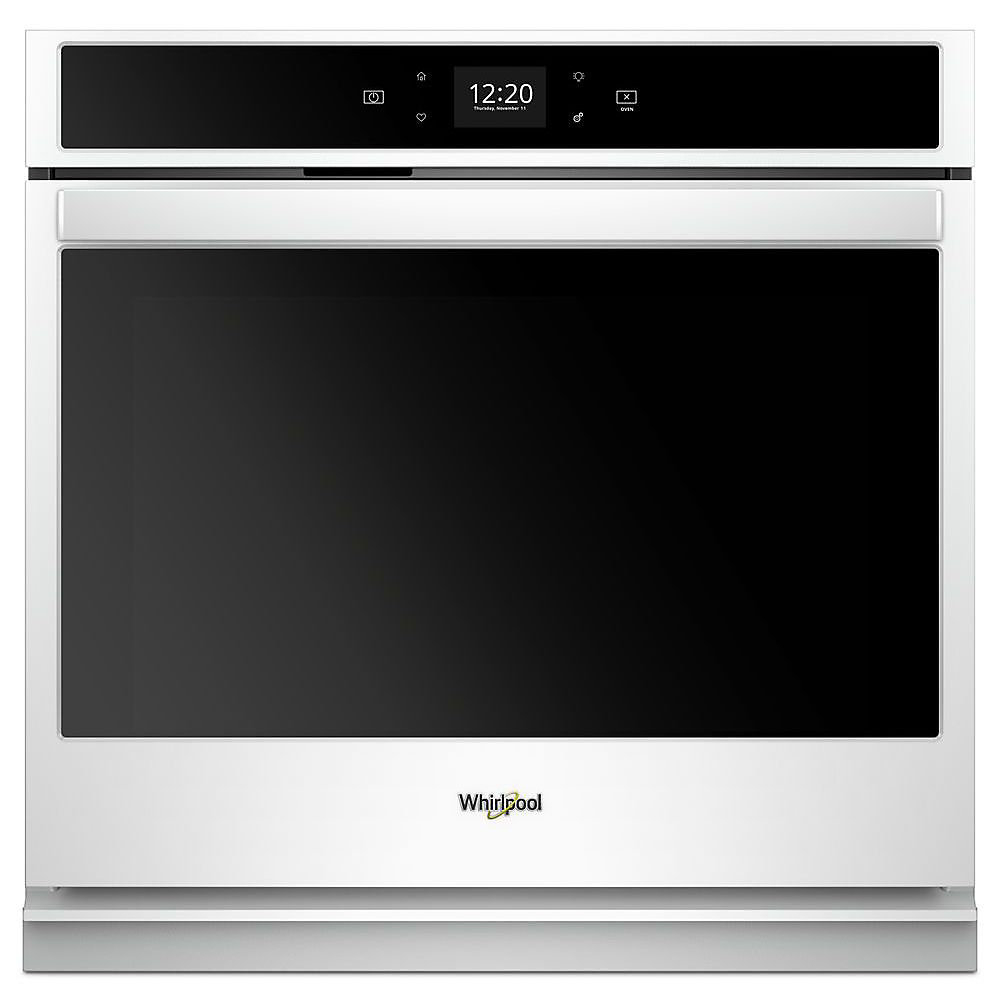 27-inch 4.3 cu. ft. Smart Single Electric Wall Oven Self-Cleaning in White