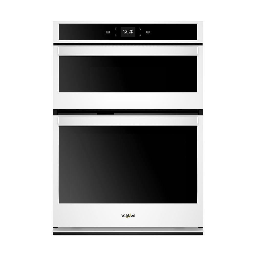 6.4 cu. ft.Smart  Single Electric Self-Cleaning Wall Oven & Microwave in White
