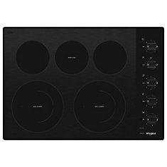 30-inch Ceramic Glass Electric Cooktop with 5 Elements in Black
