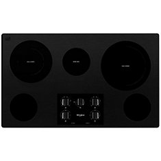36-inch Ceramic Glass Electric Cooktop with 5 Elelments in Black