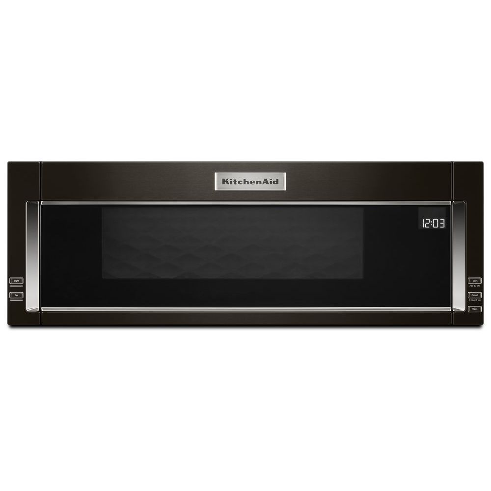 30 inch W 1.1 cu. ft. Over the Range Microwave in Black Stainless Steel with Sensor Cooking