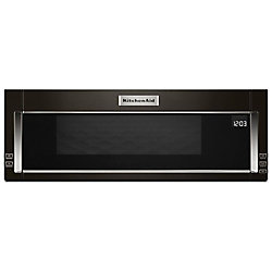 1.1 cu. ft. Low Profile Over the Range Microwave in Black Stainless Steel with Sensor Cooking