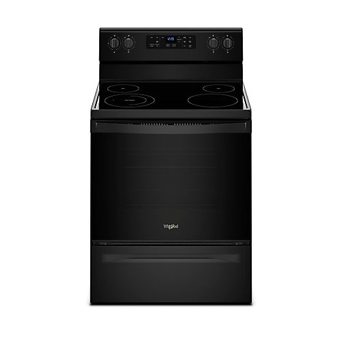 30-inch 5.3 cu. ft. Single Oven Electric Range with Self-Cleaning in Black