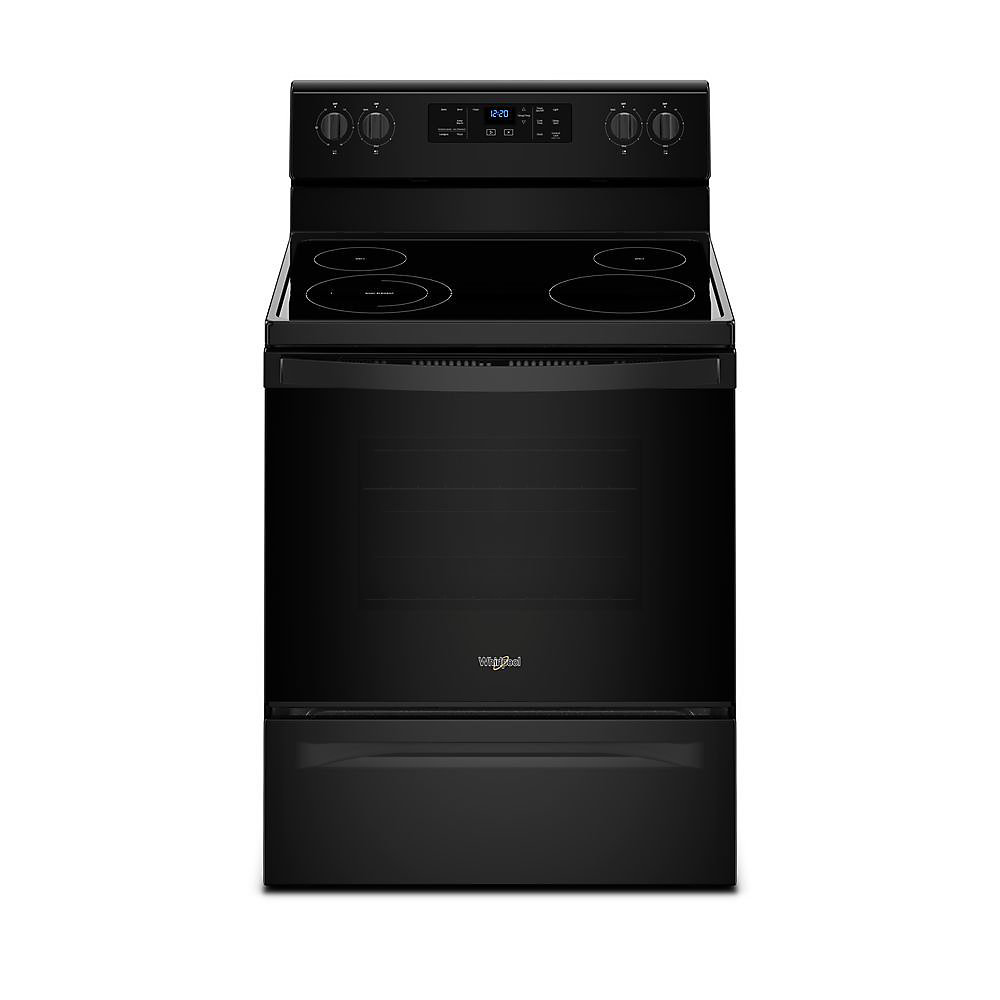 5.3 cu.ft. Electric Range with Self-Cleaning Oven in Black