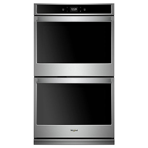 27-inch 8.6 cu. ft. Smart Double Electric Wall Oven with Touchscreen in Stainless Steel