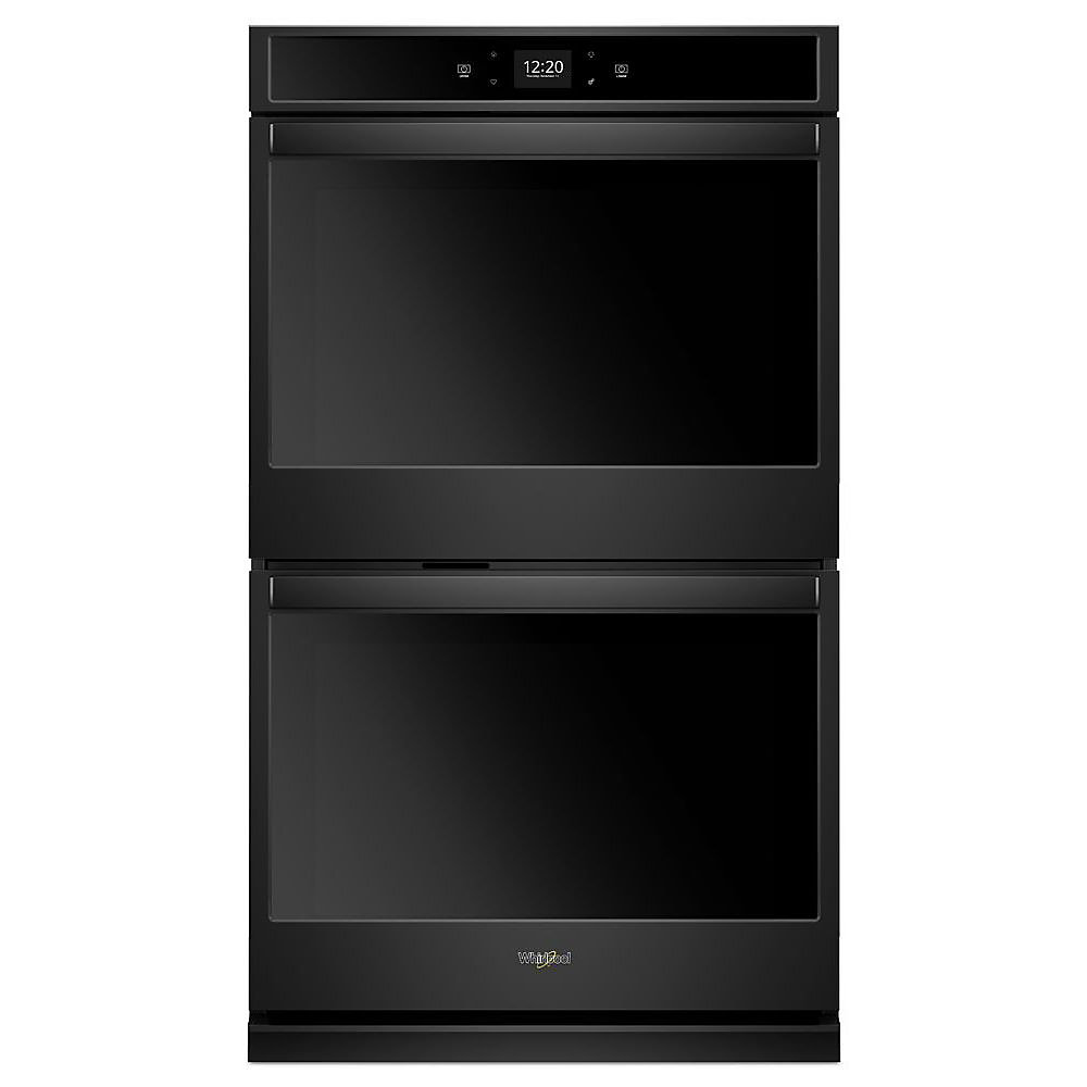 27-inch 8.6 cu. ft. Smart Double Electric Wall Oven with Touchscreen in Black