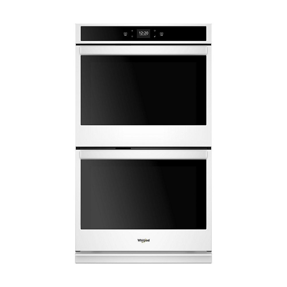 27-inch 8.6 cu. ft. Smart Double Electric Wall Oven with Touchscreen in White