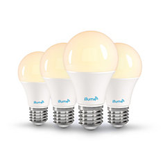 8W 750 Lumen LED Multi-Colour and Pure White A-19 Smart Bulb (4-Pack)
