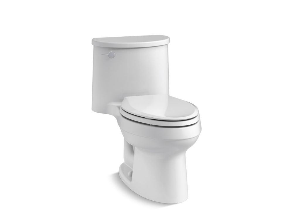 KOHLER Adair 1-Piece Elongated 1.28 Gpf Toilet in White