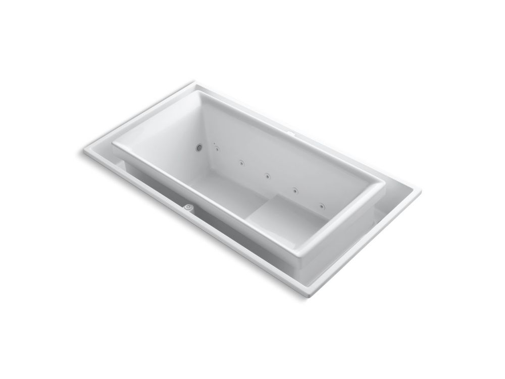 Whirlpool Tub With Reversible Drain In White-Discontinued