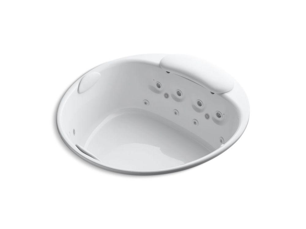 KOHLER River bath Round 5.5 ft. Whirlpool Tub In White