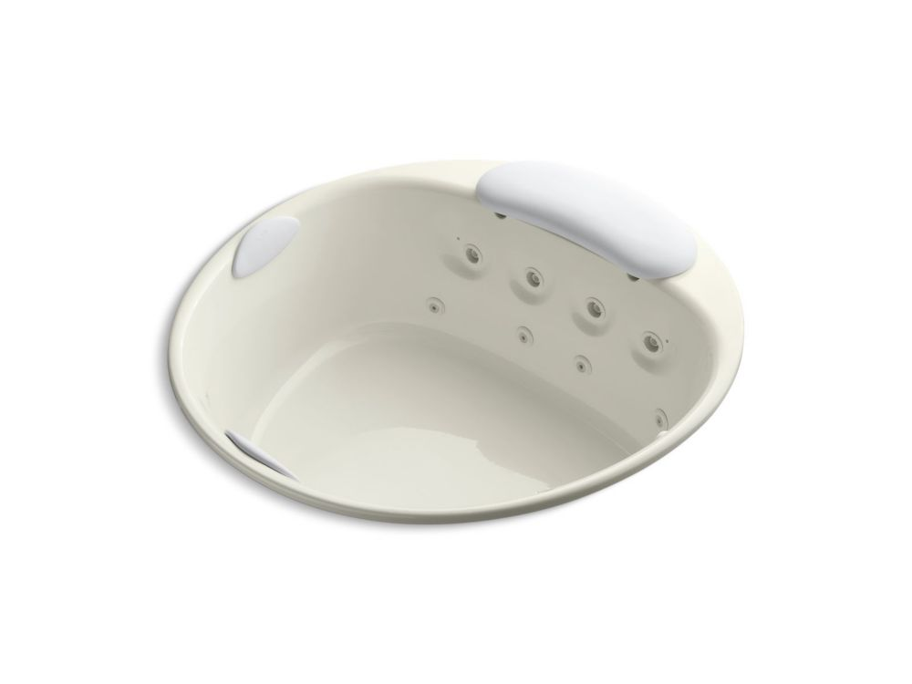River bath 66 inch Drop Inch Whirlpool With Heater Without Jet Trim In Biscuit