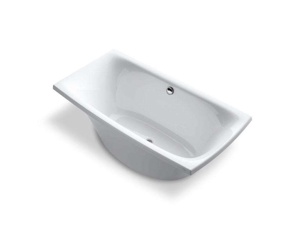 KOHLER Escale 6 ft. Center Drain Soaking Tub In White