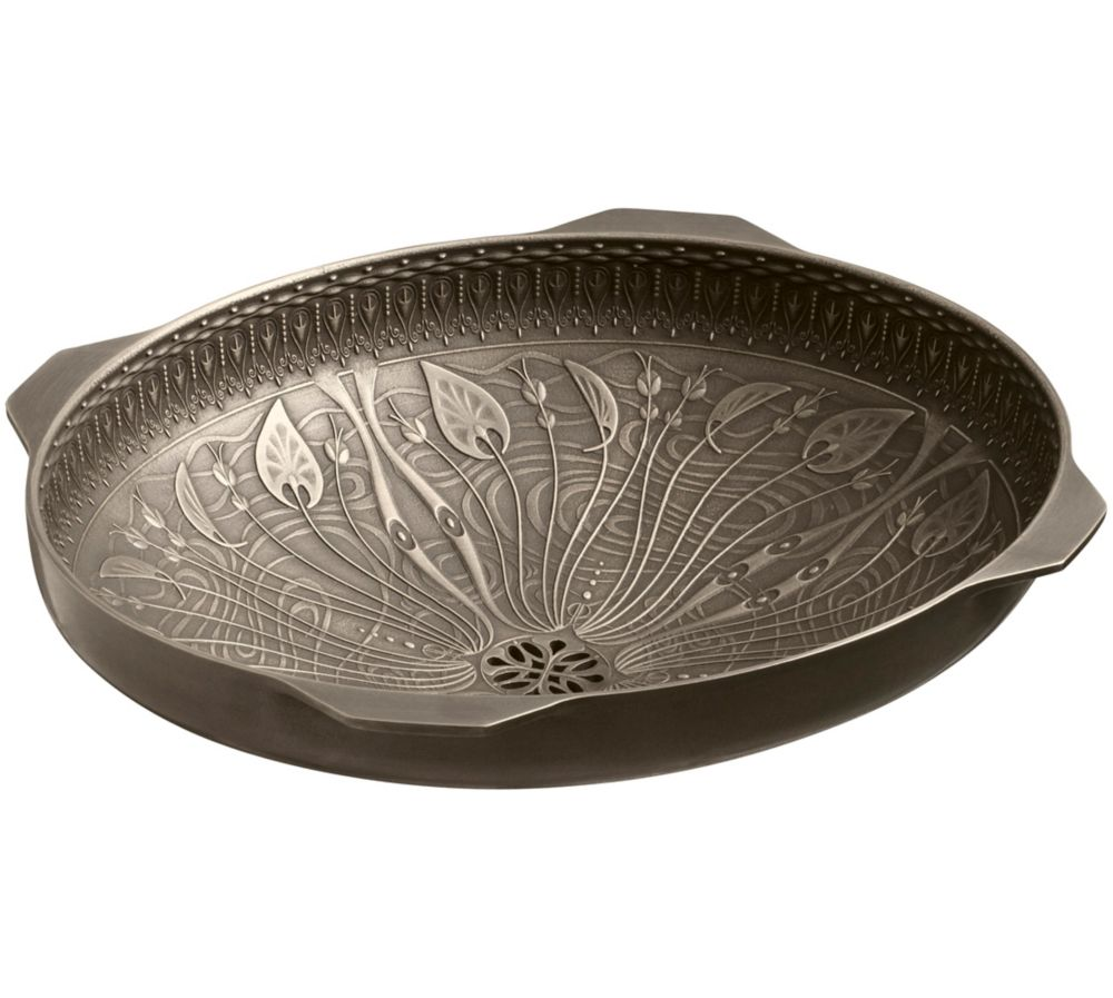 Lilies Lore(R) cast bronze under-mount bathroom sink