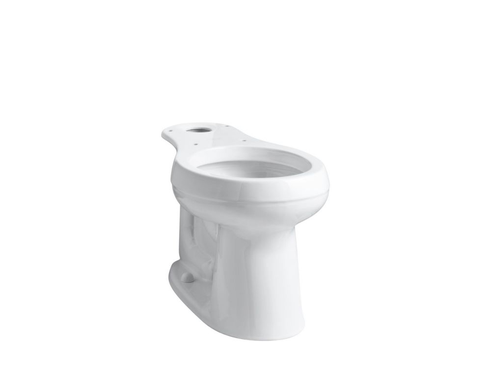 Cimarron Comfort Height Round-Front Bowl With 10 inch Rough Inch In White