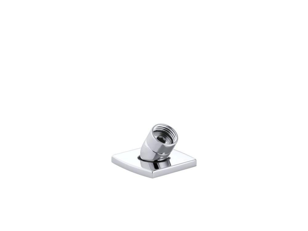 Loure Deck-Mount Metal Handshower Holder In Polished Chrome