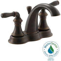 KOHLER Devonshire(R) centreset bathroom sink faucet with lever handles
