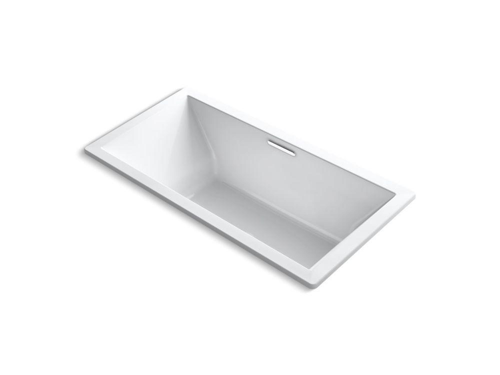 KOHLER Underscore 72 inch X 36 inch Drop inch Bath with Center Drain in White