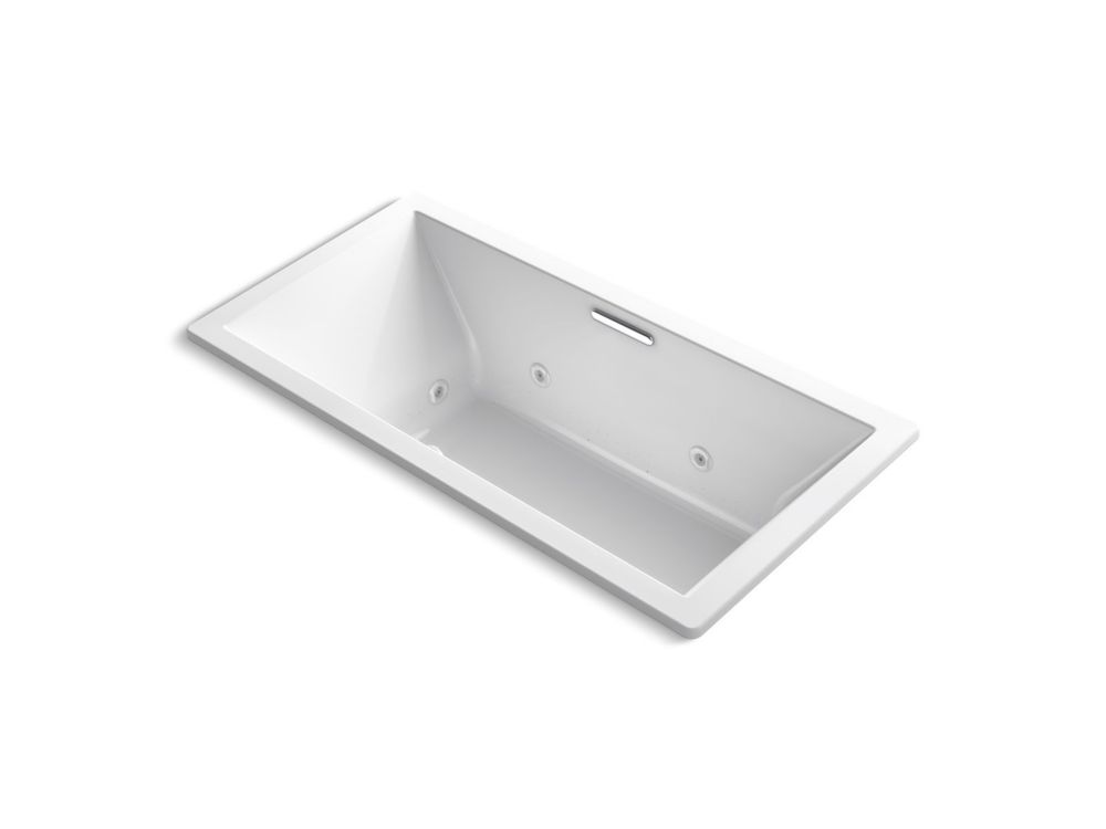 Underscore 72 X 36  Drop inch Whirlpool With Heater Without Jet Trim And With Center Drain In White
