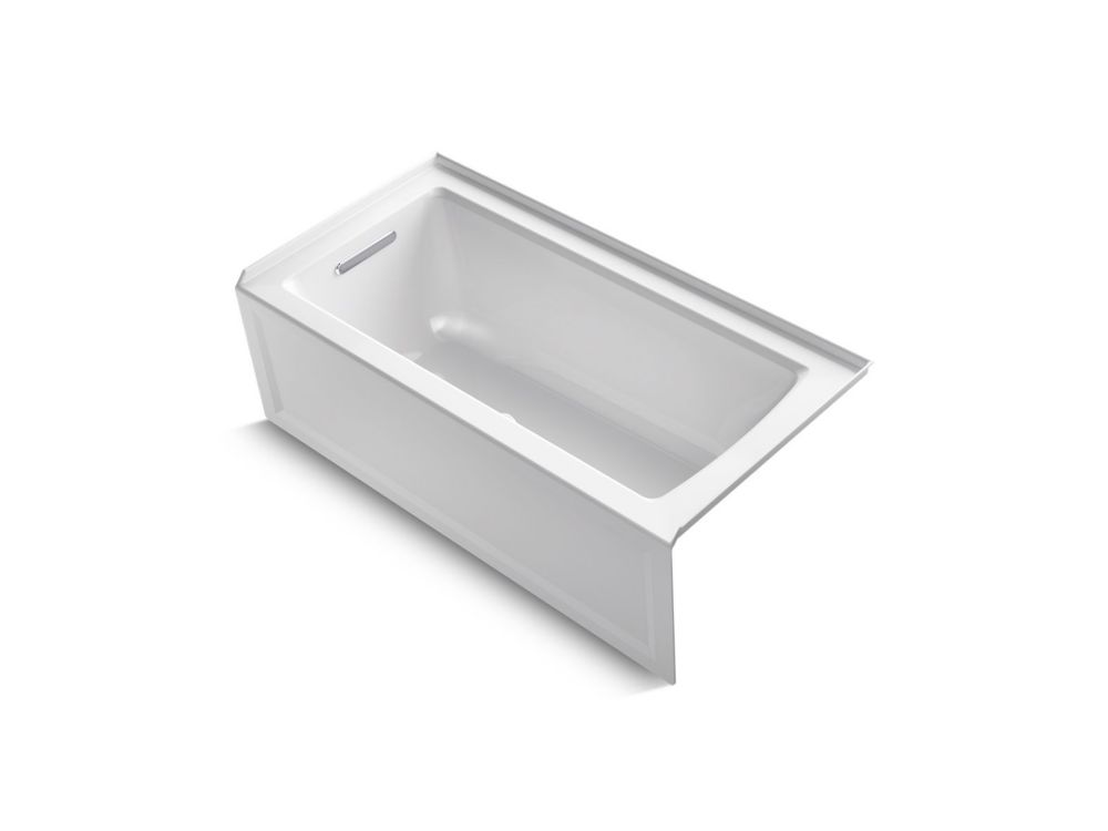 KOHLER Archer 5 ft. Left Drain Soaking Tub In White