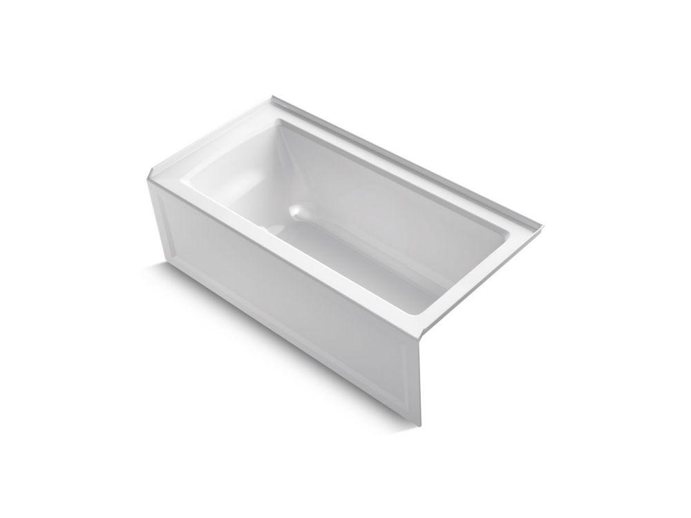 Archer 5 ft. Right Drain Soaking Tub In White