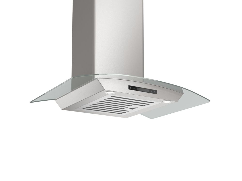 Ancona Tornado Elite 30 inch 30 inch Convertible Wall Mount Range Hood with a Stainless Steel and Glass Canopy