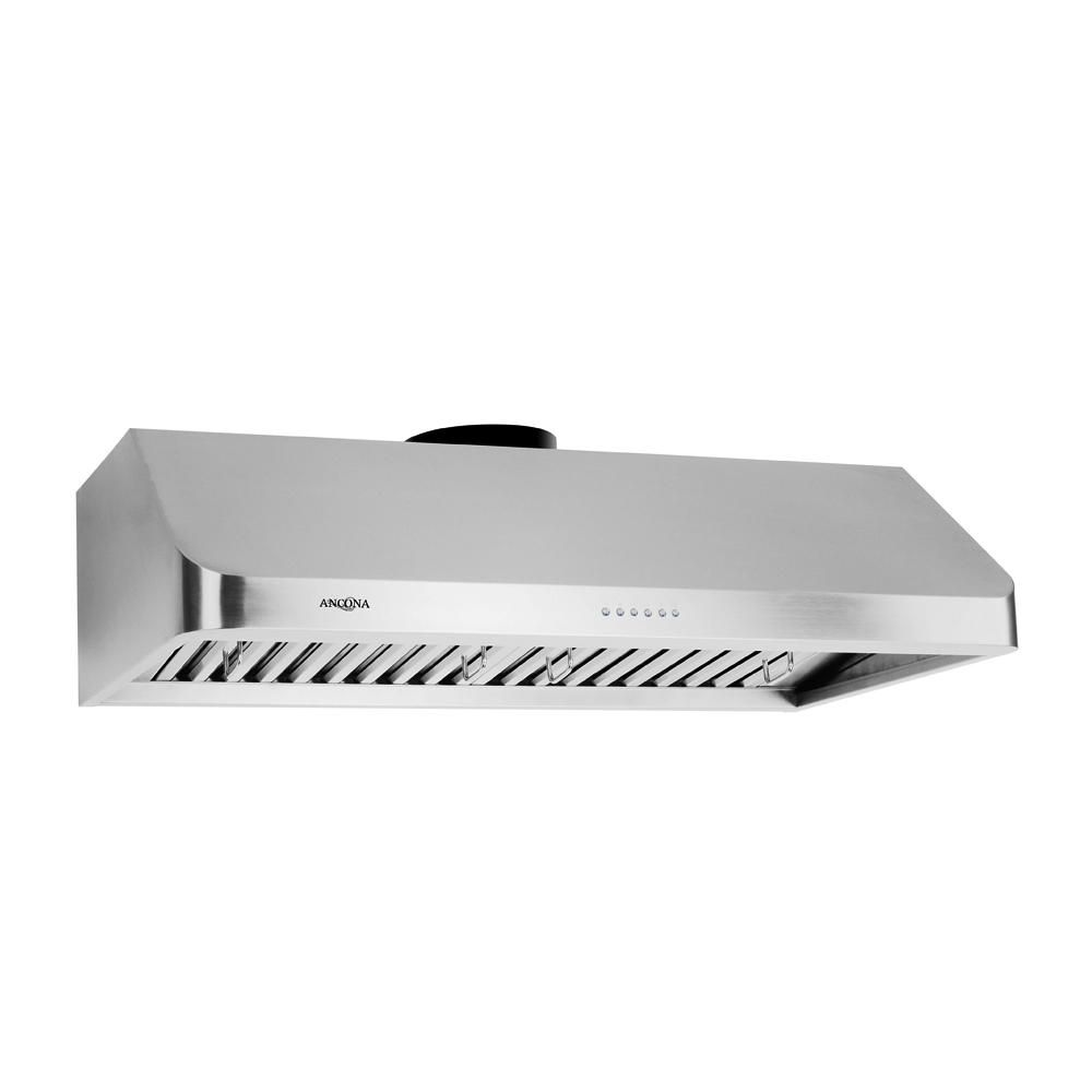 Ancona UCA 636 36 inch Range hood with LED Lights