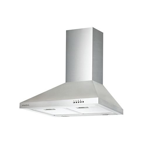 Ancona WPD 430 30-inch Wall-Mounted Classic Pyramid Range Hood in Stainless Steel